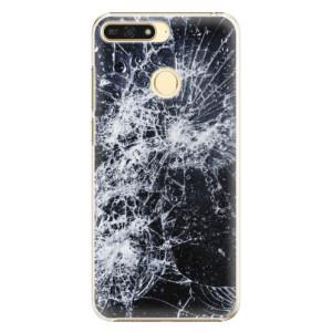 Plastové pouzdro iSaprio Praskliny na mobil Honor 7A