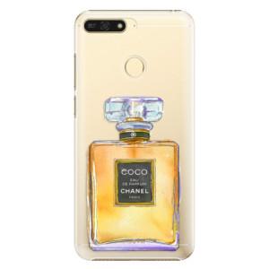 Plastové pouzdro iSaprio Chanel Gold na mobil Honor 7A