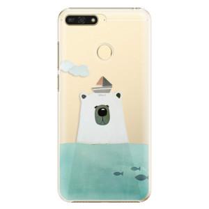 Plastové pouzdro iSaprio Medvěd s Lodí na mobil Honor 7A