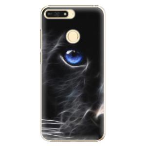 Plastové pouzdro iSaprio Black Puma na mobil Honor 7A