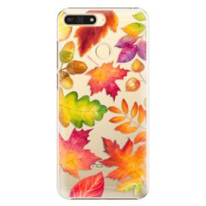 Plastové pouzdro iSaprio Podzimní Lístečky na mobil Honor 7A