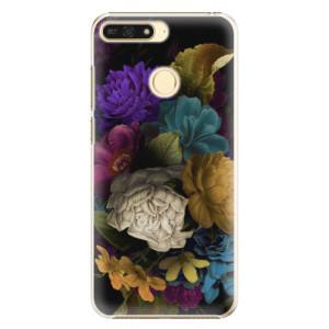 Plastové pouzdro iSaprio Temné Květy na mobil Honor 7A