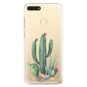 Plastové pouzdro iSaprio Kaktusy 02 na mobil Honor 7A