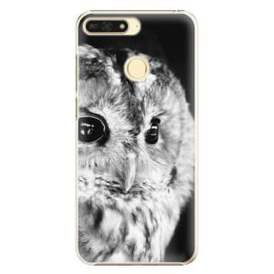 Plastové pouzdro iSaprio BW Sova na mobil Honor 7A