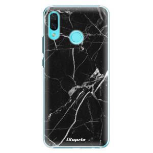 Plastové pouzdro iSaprio Black Marble 18 na mobil Huawei Nova 3