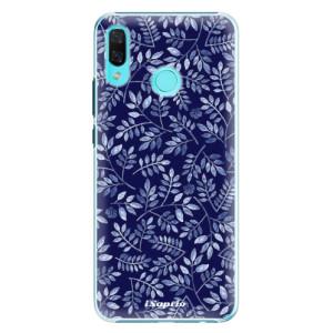 Plastové pouzdro iSaprio Blue Leaves 05 na mobil Huawei Nova 3