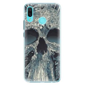Plastové pouzdro iSaprio Abstract Skull na mobil Huawei Nova 3