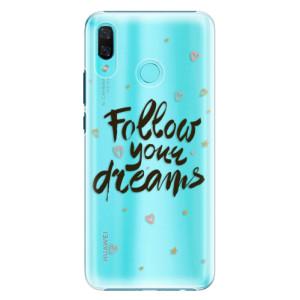 Plastové pouzdro iSaprio Follow Your Dreams černý na mobil Huawei Nova 3