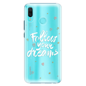 Plastové pouzdro iSaprio Follow Your Dreams bílý na mobil Huawei Nova 3