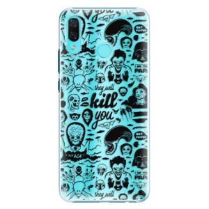 Plastové pouzdro iSaprio Komiks 01 black na mobil Huawei Nova 3