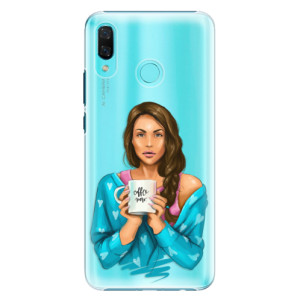 Plastové pouzdro iSaprio Coffee Now Brunetka na mobil Huawei Nova 3