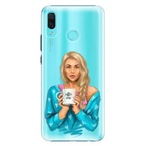 Plastové pouzdro iSaprio Coffee Now Blondýna na mobil Huawei Nova 3