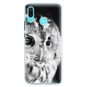 Plastové pouzdro iSaprio BW Sova na mobil Huawei Nova 3