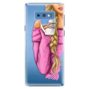Plastové pouzdro iSaprio Blondýnka s kafčem na mobil Samsung Galaxy Note 9