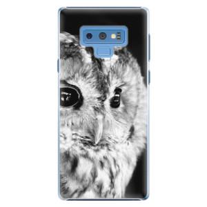Plastové pouzdro iSaprio BW Sova na mobil Samsung Galaxy Note 9