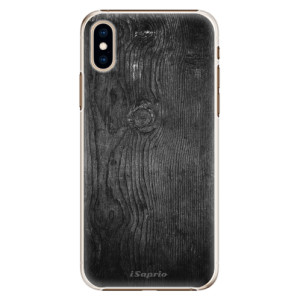 Plastové pouzdro iSaprio Black Wood 13 na mobil Apple iPhone XS