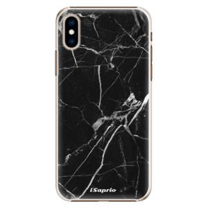 Plastové pouzdro iSaprio Black Marble 18 na mobil Apple iPhone XS