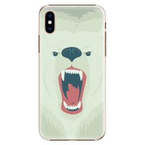 Plastové pouzdro iSaprio Naštvanej Medvěd na mobil Apple iPhone XS