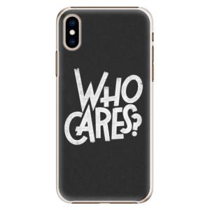 Plastové pouzdro iSaprio Who Cares na mobil Apple iPhone XS