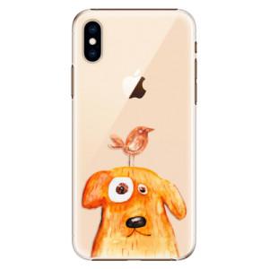 Plastové pouzdro iSaprio Pejsek a Ptáček na mobil Apple iPhone XS