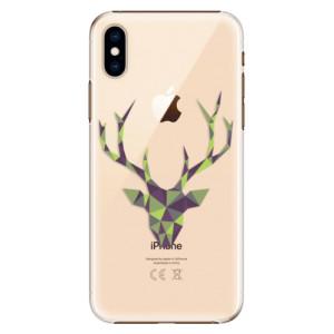 Plastové pouzdro iSaprio Zelený Jelínek na mobil Apple iPhone XS