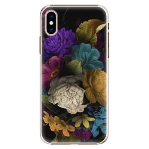 Plastové pouzdro iSaprio Temné Květy na mobil Apple iPhone XS