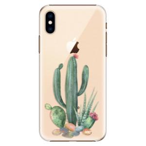 Plastové pouzdro iSaprio Kaktusy 02 na mobil Apple iPhone XS