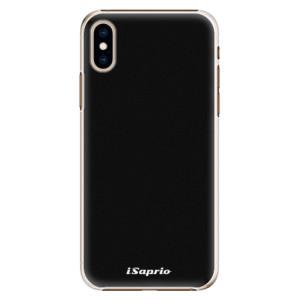 Plastové pouzdro iSaprio 4Pure černé na mobil Apple iPhone XS