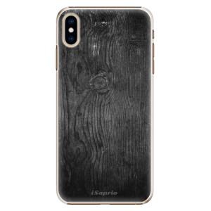 Plastové pouzdro iSaprio Black Wood 13 na mobil Apple iPhone XS Max