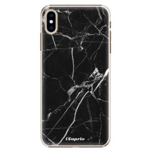 Plastové pouzdro iSaprio Black Marble 18 na mobil Apple iPhone XS Max