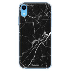 Plastové pouzdro iSaprio Black Marble 18 na mobil Apple iPhone XR
