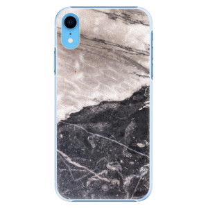 Plastové pouzdro iSaprio BW Mramor na mobil Apple iPhone XR
