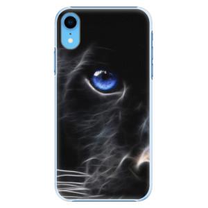 Plastové pouzdro iSaprio Black Puma na mobil Apple iPhone XR