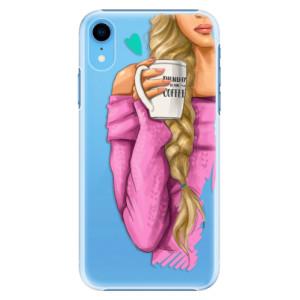 Plastové pouzdro iSaprio Blondýnka s kafčem na mobil Apple iPhone XR