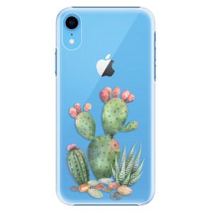 Plastové pouzdro iSaprio Kaktusy 01 na mobil Apple iPhone XR