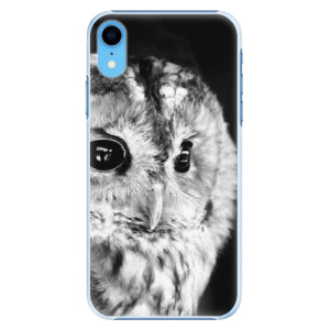 Plastové pouzdro iSaprio BW Sova na mobil Apple iPhone XR