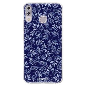 Plastové pouzdro iSaprio Blue Leaves 05 na mobil Asus ZenFone 5Z ZS620KL