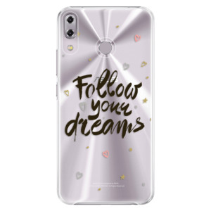 Plastové pouzdro iSaprio Follow Your Dreams černý na mobil Asus ZenFone 5Z ZS620KL