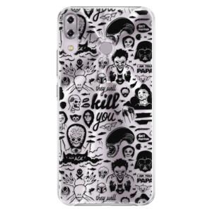 Plastové pouzdro iSaprio Komiks 01 black na mobil Asus ZenFone 5Z ZS620KL