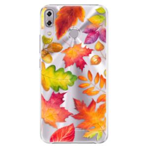 Plastové pouzdro iSaprio Podzimní Lístečky na mobil Asus ZenFone 5Z ZS620KL