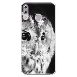 Plastové pouzdro iSaprio BW Sova na mobil Asus ZenFone 5Z ZS620KL
