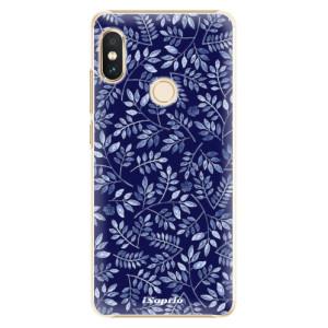 Plastové pouzdro iSaprio Blue Leaves 05 na mobil Xiaomi Redmi Note 5