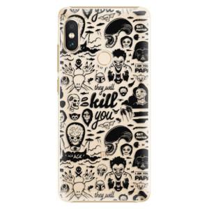 Plastové pouzdro iSaprio Komiks 01 black na mobil Xiaomi Redmi Note 5