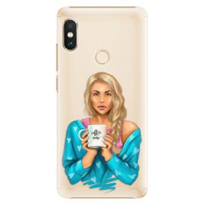 Plastové pouzdro iSaprio Coffee Now Blondýna na mobil Xiaomi Redmi Note 5