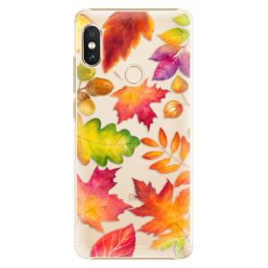 Plastové pouzdro iSaprio Podzimní Lístečky na mobil Xiaomi Redmi Note 5