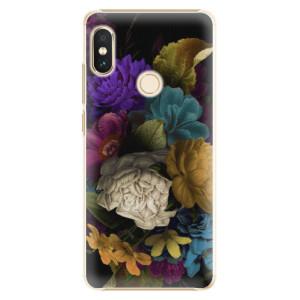 Plastové pouzdro iSaprio Temné Květy na mobil Xiaomi Redmi Note 5 - poslední kus za tuto cenu