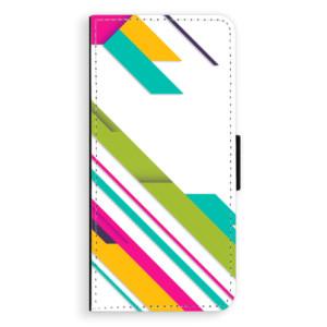 Flipové pouzdro iSaprio Barevné Pruhy 03 na mobil Huawei P20 Pro