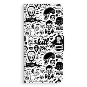 Flipové pouzdro iSaprio Komiks 01 black na mobil Huawei P20 Pro