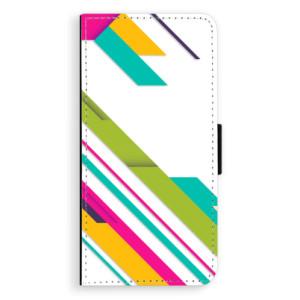 Flipové pouzdro iSaprio Barevné Pruhy 03 na mobil Huawei P20