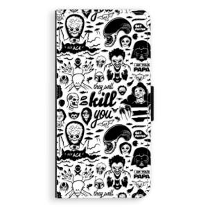 Flipové pouzdro iSaprio Komiks 01 black na mobil Huawei P20